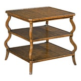 Image of Modern Tiered Side Table For Sale