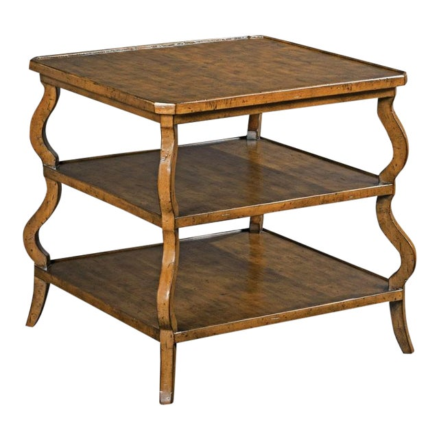 Modern Tiered Side Table For Sale