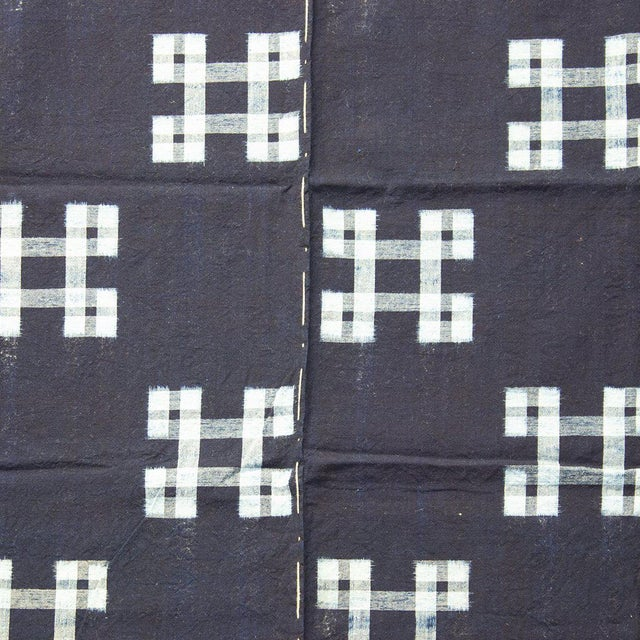 Kasuri 絣 woven futon cover. Kasuri is the Japanese style of ikat, where the threads of the material are resist-dyed before...