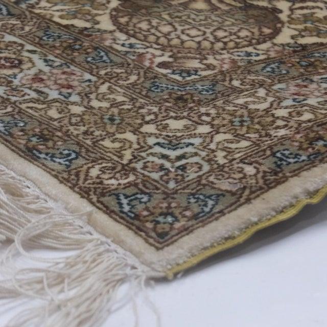 Leon Banilivi Pure Silk Tabriz Carpet - 8' x 10' For Sale In New York - Image 6 of 10