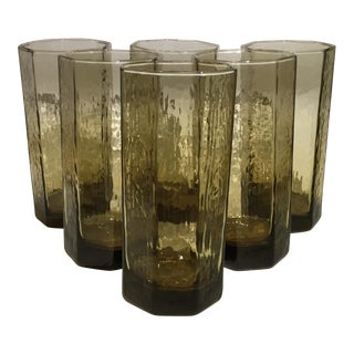Facets Beverage Glasses - Set of 6 For Sale
