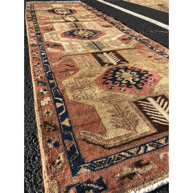 1950s Vintage Persian Sarab Runner Rug - 3′1″ × 10′2″ For Sale - Image 4 of 13