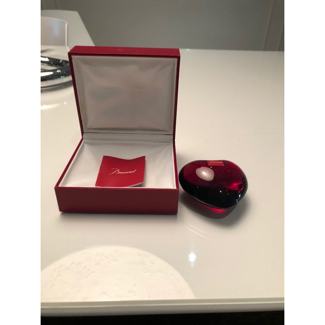 Baccarat Bacarrat Ruby Heart Paper Weight For Sale - Image 4 of 5