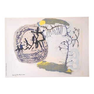 """Vintage Abstract Lithograph-Sister Mary Corita Kent-""""Cure of the Blind Man"""" For Sale"""