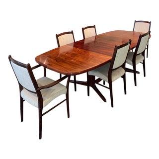 Rasmus Vintage Rosewood 9 Piece Dining Set For Sale