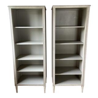 Restoration Hardware Baby & Child Marcelle Bookshelves - a Pair For Sale