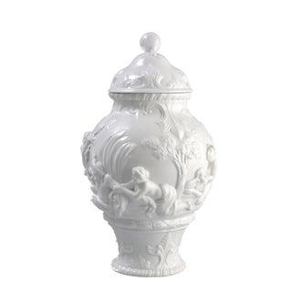 White Capodimonte Italian Porcelain Urn
