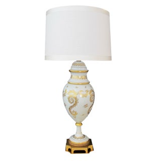 An American Blanc De Chine Porcelain Lamp, Labled 'Marbro Lamp Co., Los Angeles' For Sale