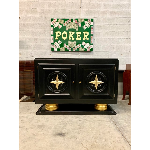 1940s Vintage French Art Deco Sideboard / Buffet / Bar For Sale - Image 13 of 13