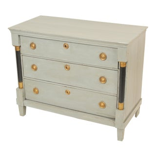 Neoclassical Empire Painted Chest of Drawers For Sale