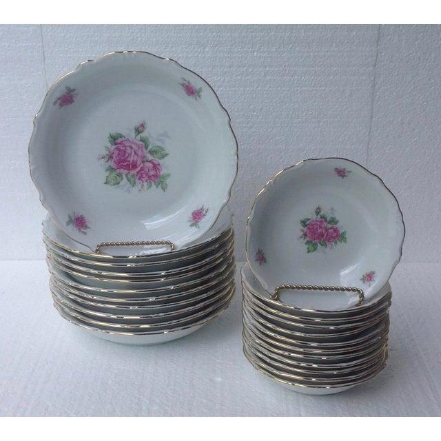 Bavarian Pink Rose China Set - Set of 84 For Sale In Chicago - Image 6 of 8