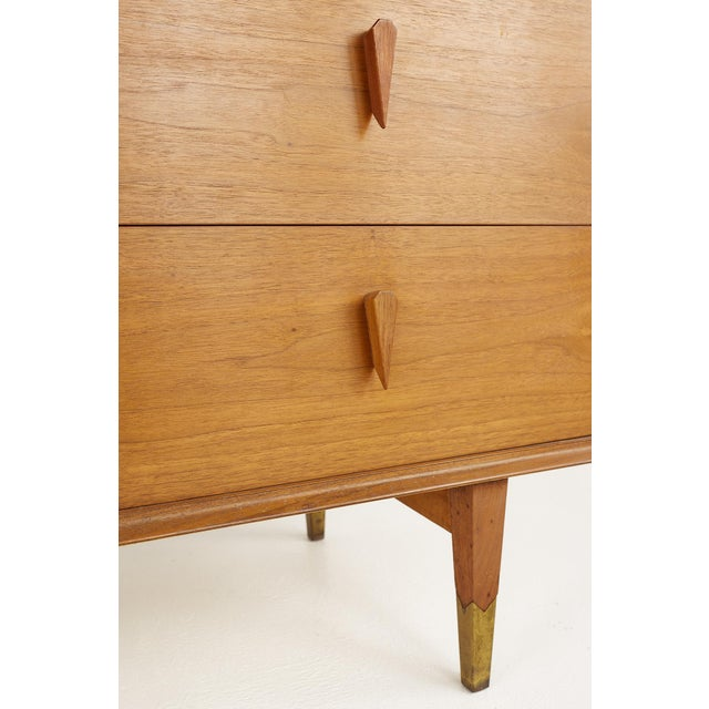 Albert Parvin Style Mid Century Walnut Highboy Dresser For Sale - Image 11 of 12