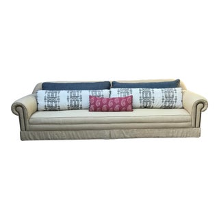 Custom Sofa With Peter Dunham Textiles Pillows For Sale