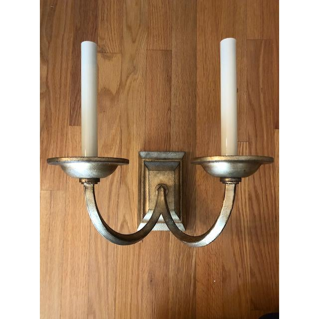 Visual Comfort Flemish Double Sconce in Gilded Iron For Sale In Washington DC - Image 6 of 8