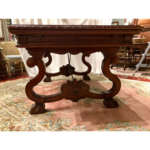 Spanish Renaissance Walnut Refectory Table For Sale - Image 4 of 10