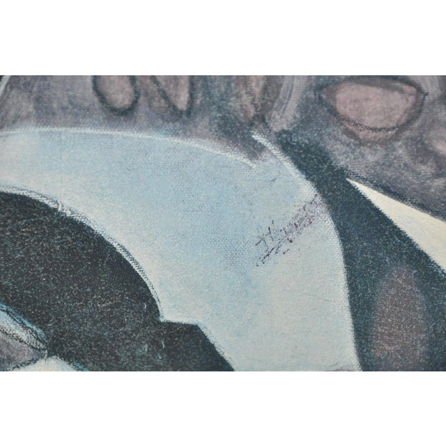 Late 20th Century Vintage Cubist Mixed Media Reclining Nude C.1980s For Sale - Image 5 of 9