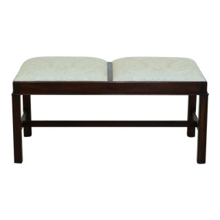 Henkel Harris Chippendale Mahogany Bed or Window Bench For Sale