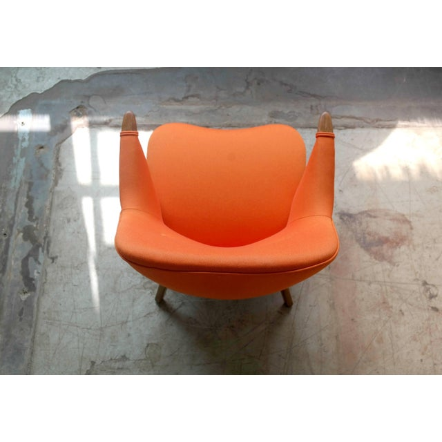 1950s Small Danish Mama Bear Style Lounge Chair in the Manner of Kurt Olsen For Sale - Image 9 of 10