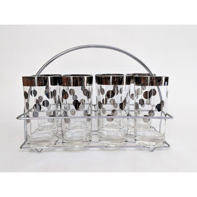 Dorothy Thorpe Polka Dot Glasses With Holder - Set of 8 - Image 3 of 11