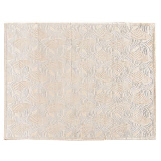 Stark Studio Rugs Traditional Flatweave Silk Rug - 9′ × 12′ For Sale