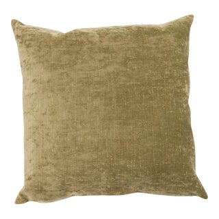 Ecru Solid Velvet Pillow