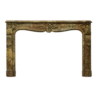 Stunning French Marble Louis XV Fireplace Mantel For Sale