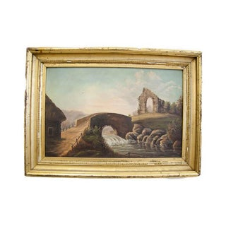 Victorian Landscape Oil Painting For Sale