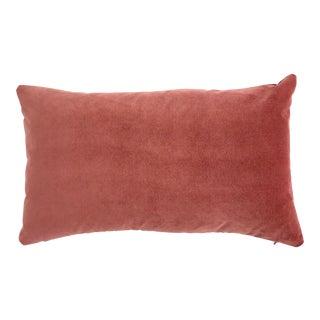 FirmaMenta Italian Rose Salmon Pink Velvet Lumbar Pillow