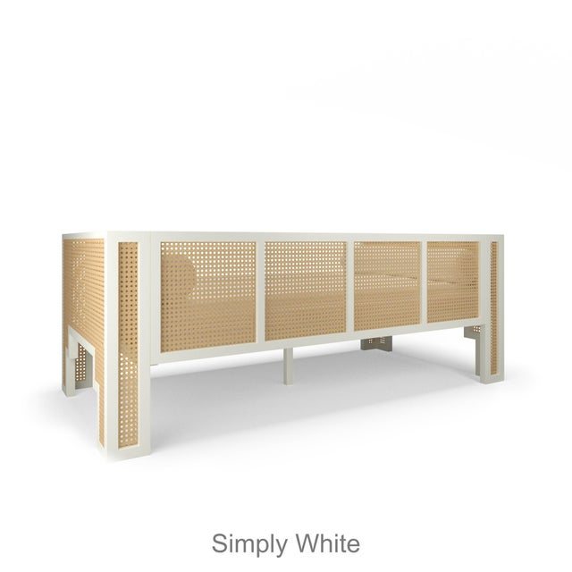 Contemporary Alexandra Daybed - Citron, Optic White Linen For Sale - Image 3 of 6