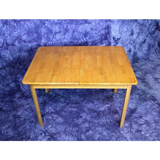 Brown Mid-Century Modern Wooden Dining Kitchen Table For Sale - Image 8 of 10