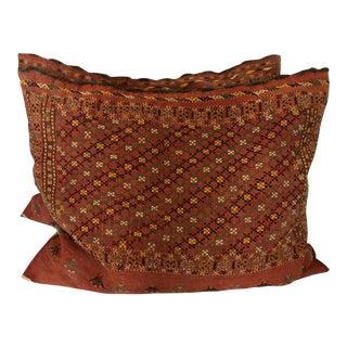 Vintage Moroccan Rug Pillows - A Pair
