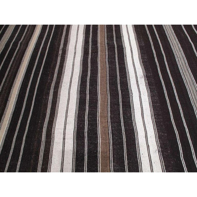 1960s Large Kilim with Vertical Bands For Sale - Image 5 of 7