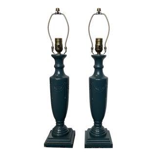Victorian Maison Maison Candlestick Table Lamps - a Pair For Sale