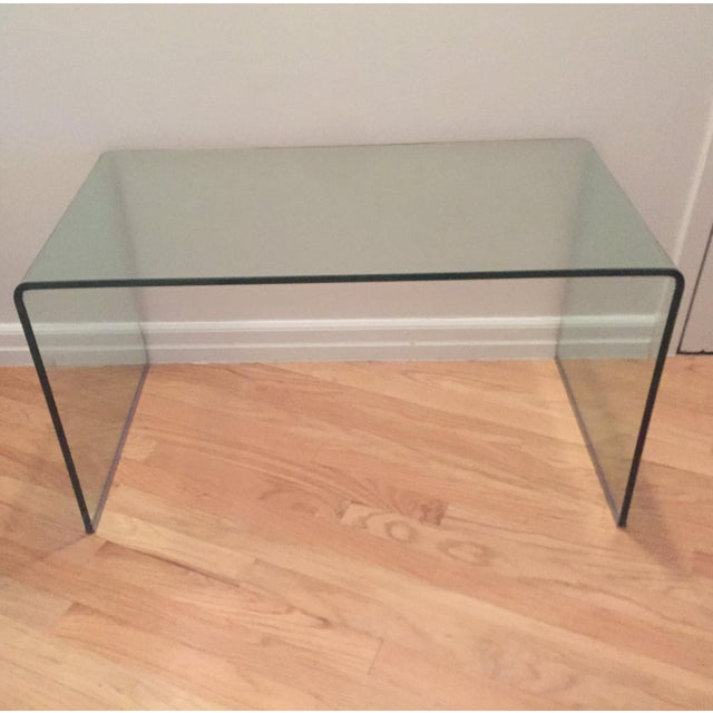 Modern Glass Waterfall Coffee Table - Image 2 of 3