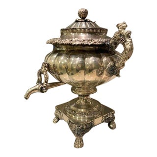 Sheffield 19th Century Silverplate Hot Water Urn C1825 For Sale
