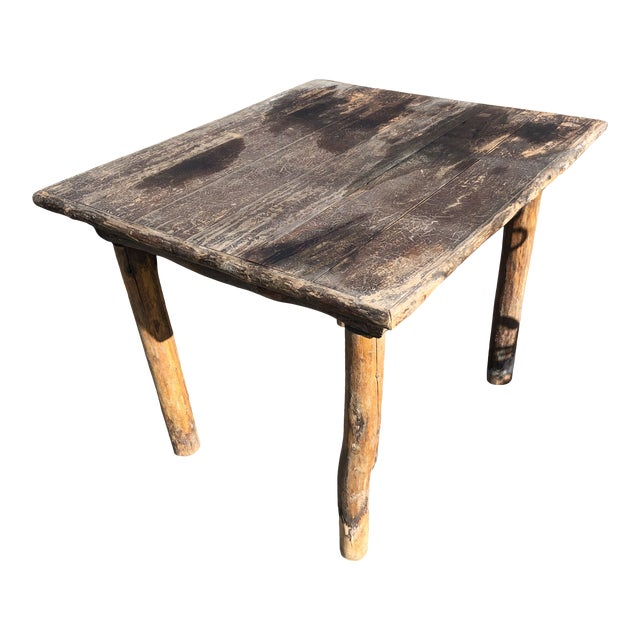 Rustic Adirondack Work or Side Table For Sale