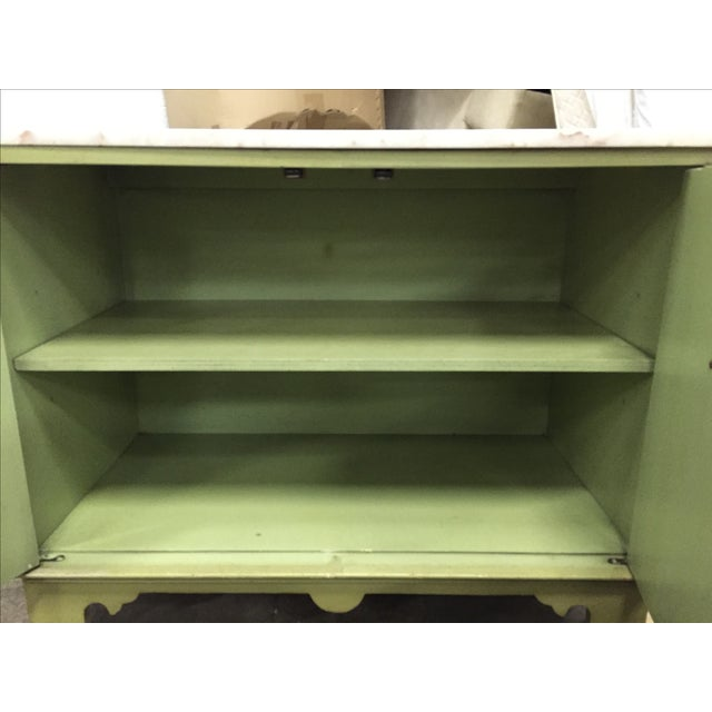 Vintage Green & White Cabinet - Image 7 of 9