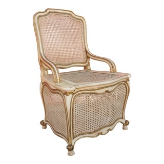 1970s French Provincial Commode Chair