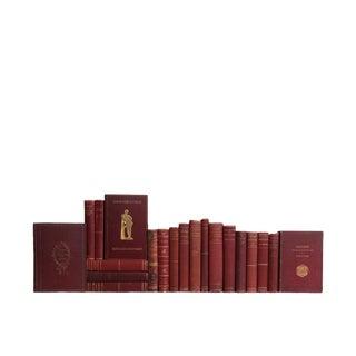 Antique Merlot : Set of Twenty Decorative Books For Sale