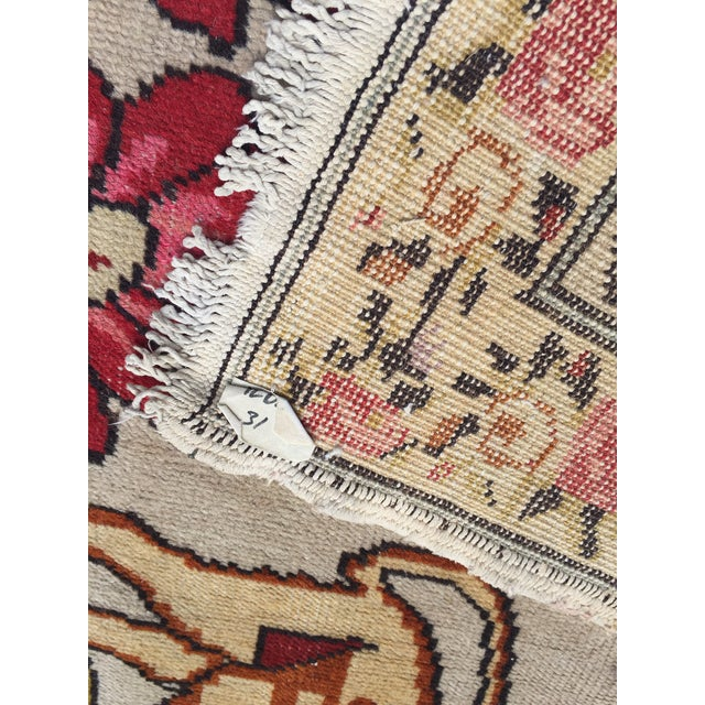 Vintage Turkish Rug Double Lion Tibetan Style Wool Rug - 4′7″ × 7′9″ For Sale In Richmond - Image 6 of 10