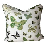 Image of Printed Linen Butterfly Print by Lulu Dk Duralee For Sale
