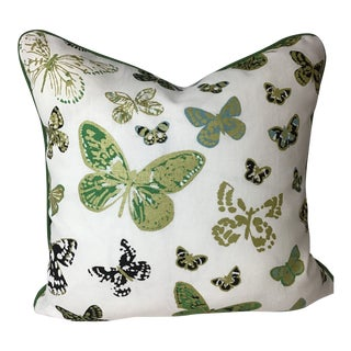 Printed Linen Butterfly Print by Lulu Dk Duralee For Sale