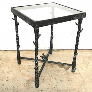 Ilana Goor Brutalist Bronze Side or End Table With Bird and Flower Preview