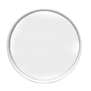Round White Bentwood Wall Mirror Preview