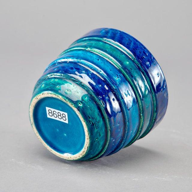 Aldo Londi for Bitossi Small Rimini Blue Planter Pot For Sale In Detroit - Image 6 of 7