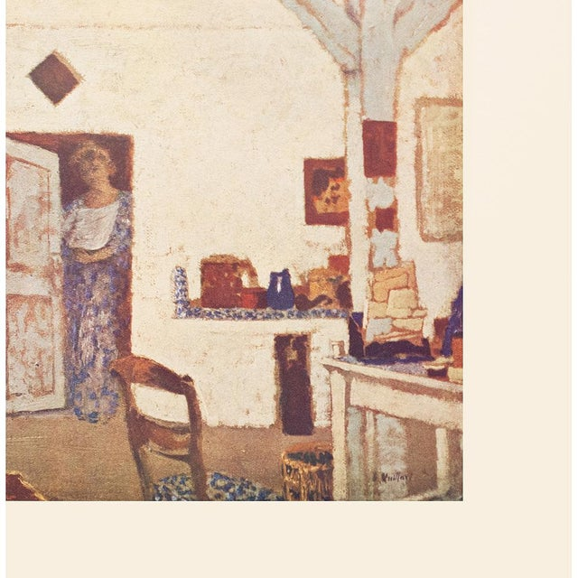 """Farmhouse Rare French """"Interior"""" by Jean-Édouard Vuillard, First Edition Parisian Lithograph For Sale - Image 3 of 10"""