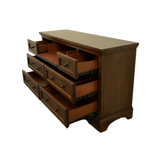 Universal Broadmoore Furniture 56 Rustic Country Style 56 Double Dresser Desk Hybrid M6153 Chairish