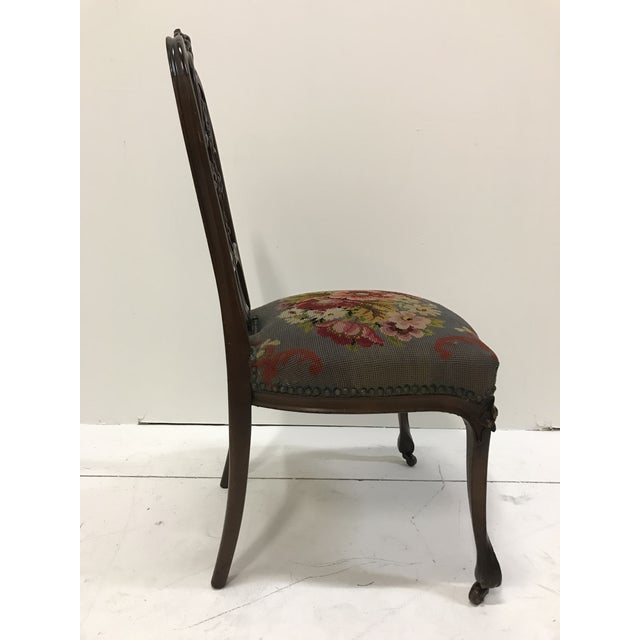 Art Nouveau 19th Century Art Nouveau Mahogany Side Desk Vanity Chair Attributed to Louis Marjorelle For Sale - Image 3 of 13