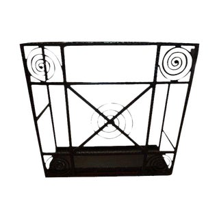 1930's Vintage French Art Deco Wrought Iron Umbrella Stand For Sale