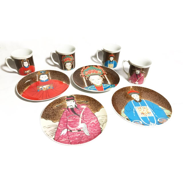 Seymour Manufacturing Company Vintage Seymour Mann Chinese Emperor Porcelain Dinnerware Set - 8 Pieces For Sale - Image 4 of 4